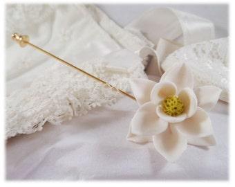 Magnolia Brooch or Stick Pin - Magnolia Jewelry