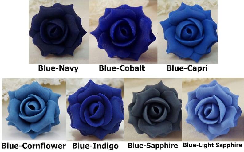 Blue Calla Lily Hair Pins Blue Flower Hair Pins Wedding Blue Bridal Hair Flowers Blue Calla Lilies