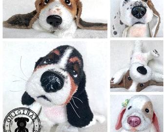 Cute Basset Hound Plush, Basset Stuffed Animal, Basset Hound Art, Basset Hound Gifts, Basset Hound Mom, Dog Lover Gift, Cute Plushie, Doll
