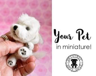 Needle Felted Animal, Pet Portrait, Miniature, Dog Lover Gift, Cat Lover Gift, Pet Memorial, Cat Portrait Custom, Cat Plush, Dog Plush