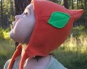 Elf Hat -- Orange with green leaf