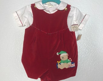 3816bdfe6728 Vintage baby boy christmas outfit