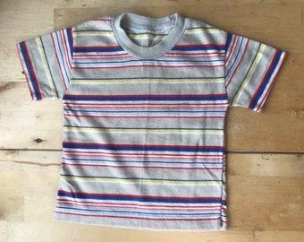 6a72d5d3f Vintage unisex striped tan tee 24 months, vintage toddler tee