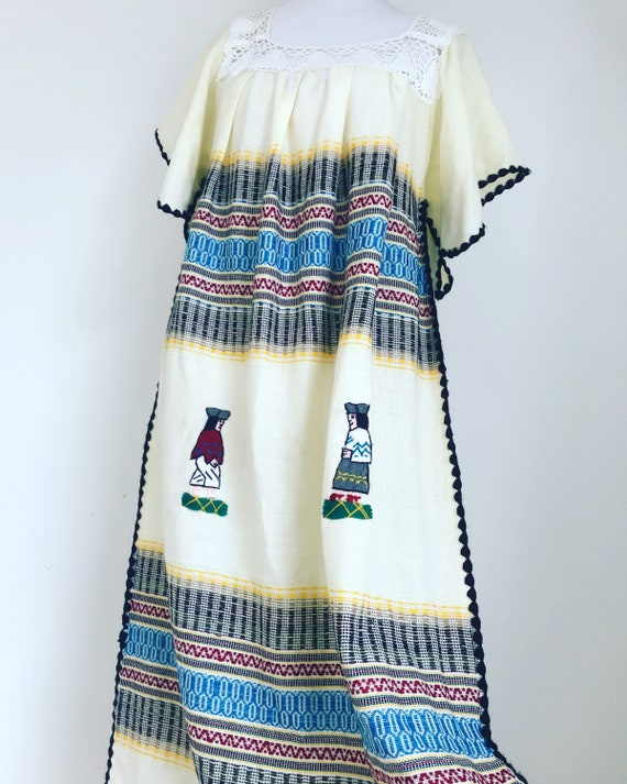 Vintage ethnic maxi dress, embroidered ethnic dres