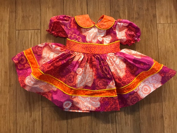 Handmade dress with slip, 12 month floral dress w… - image 1