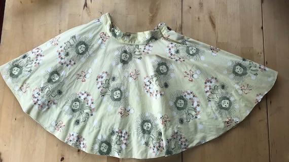 Vintage Frances Sider cicle skirt, vintage lion no