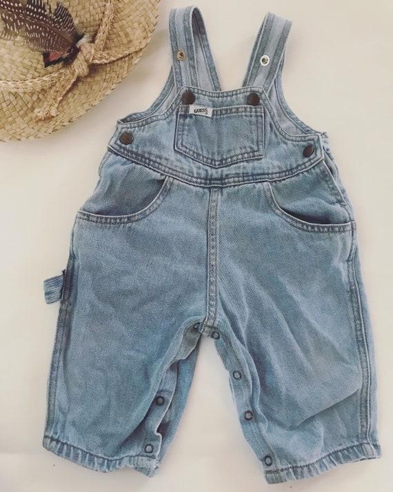 Vintage Guess Denim Overalls 9-12 months light was