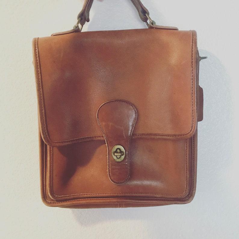79522b73efe94 Vintage Brown Coach Purse vintage brown leather coach purse | Etsy