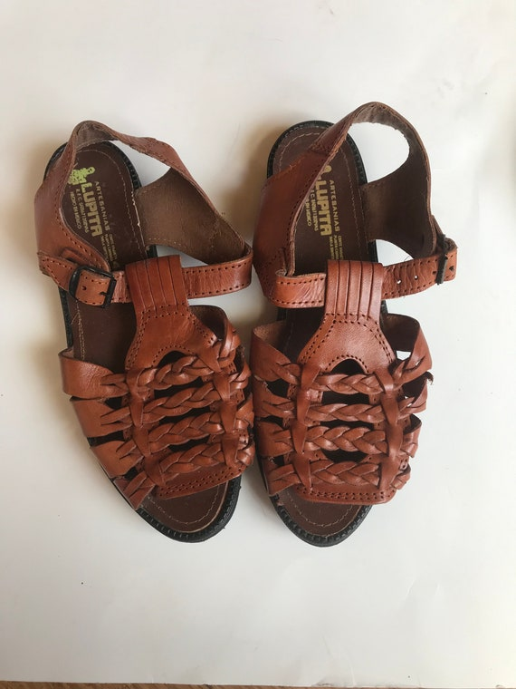 Womens Huaraches 7/8 Brown Leather Sandals