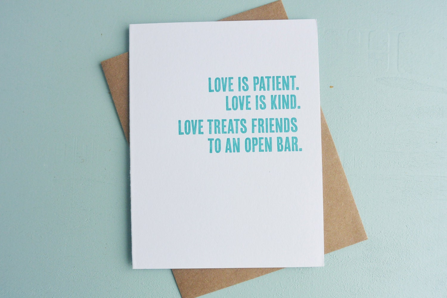 Letterpress Greeting Card Wedding And Engagement Card Etsy