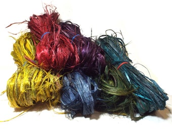 Dyed Hibiscus Fiber Pine Needle Basket Accent Coiling Basketry Natural Bark Long Fibers Cordage Twining Bundle Material for Gourds Baskets