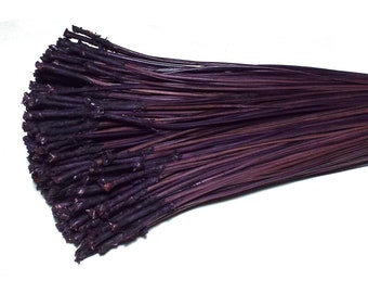 Dyed Pine Needles Dark Purple Blend 4OZ Pine Needle Basket Coiling Supply Coiled Basketry Baskets Crafts Long Leaf Needles Natural Fiber