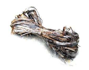 Hibiscus Bark Fiber for Coiling Cordage Coiled Basketry Gourds Crafts Weaving Basket Supply Raw Natural Dyeable Organically Grown Unusual