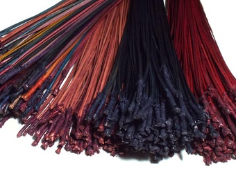 Dyed Pine Needle Quadruplets 4 OZ Long Leaf 1 OZ Each Scarlet Red Rainbow Black Brandy Coiled Basket Basketry Supplies Combo