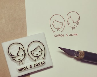 Personalized Couple Shot Signature Stamp