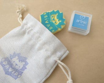 Personalized Hedgehog Reading Library Stamp (Ex-Libris) with Ink Pad