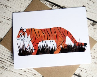 Tiger Card of Original Collage