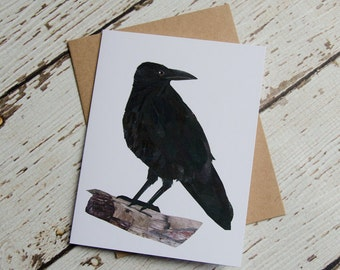 Crow Card of Original Collage