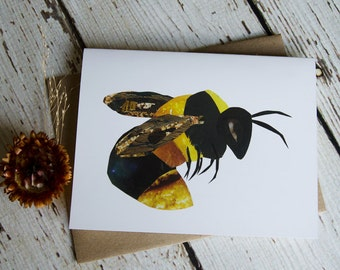 Bumblebee Card of Original Collage