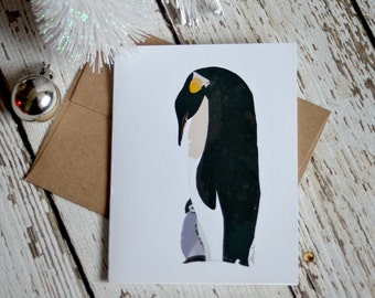 Penguin Card of Original Collage