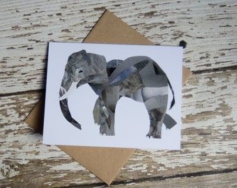 Elephant Card of Original Collage