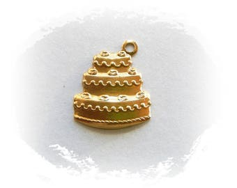 RAW BRASS (25 Pieces) Wedding Cake Charms - Cake Stamping