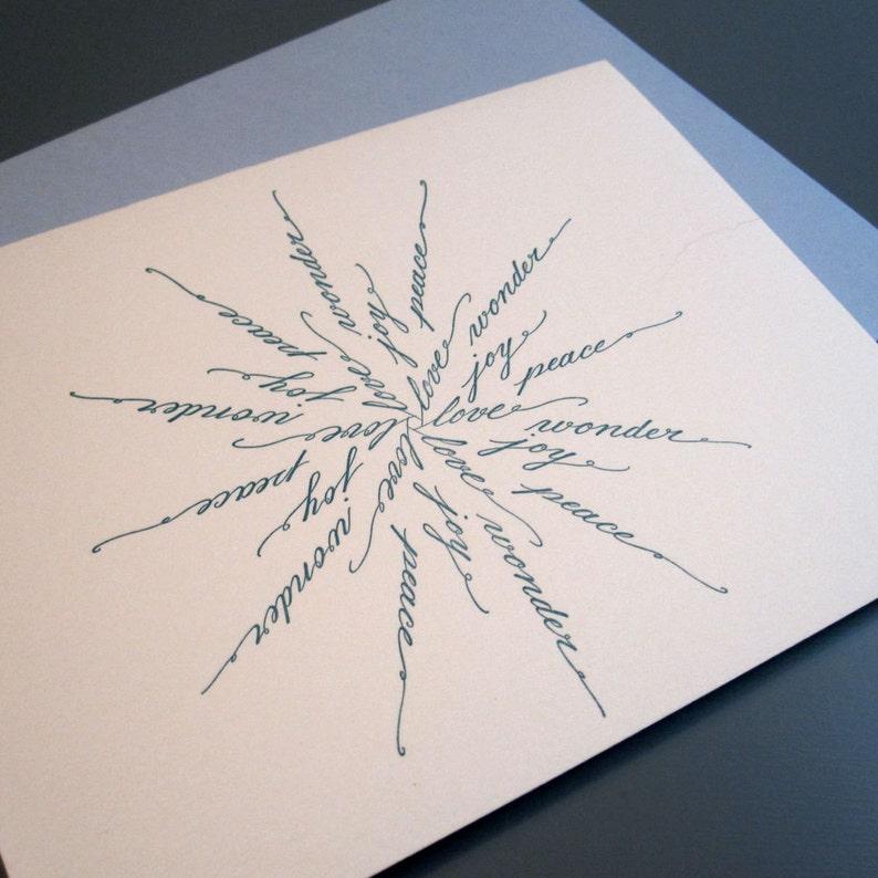 Calligraphy Snowflake Letterpress Card image 0