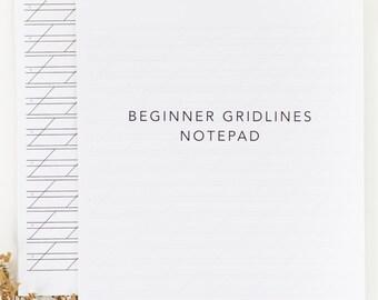Gridlines Calligraphy Practice Notepad