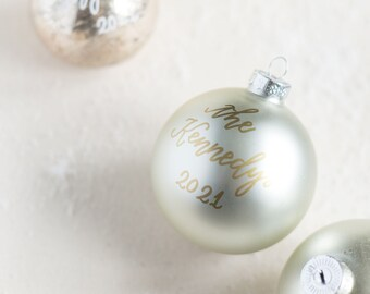 Pearl Christmas Ornament with Gold Lettering for the Holidays   Christmas Gifts   Hostess Gifts