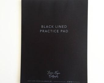 Black Beginner Gridlines Notepad
