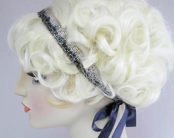 Il fille perlé bandeau des années 1920 de Style ruban serre-tête