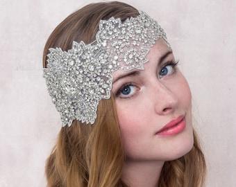 Crystal Rhinestone Bandeaux Gatsby Headband