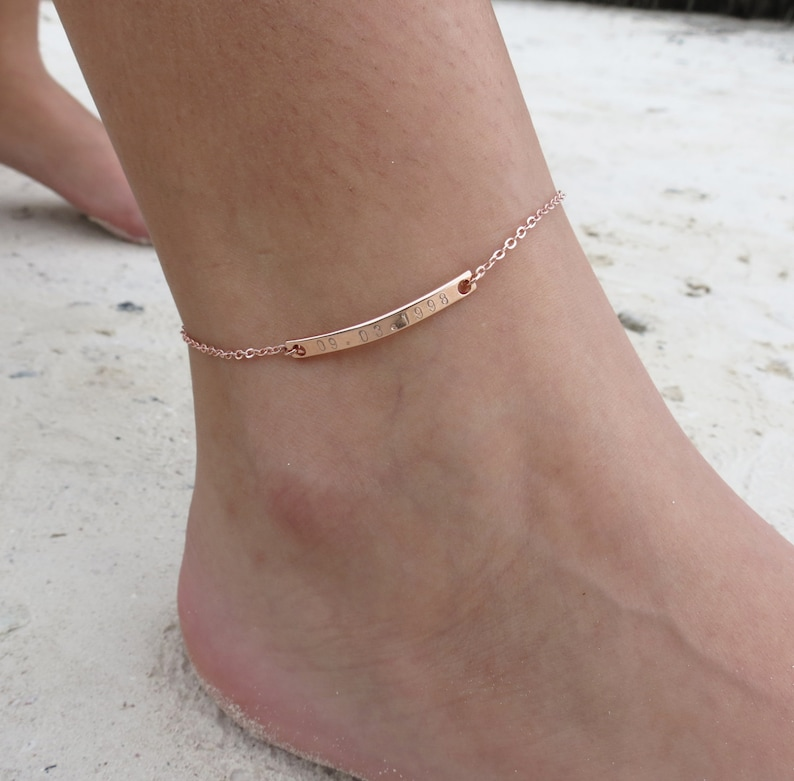 Anklet Personalized Gift Boho Best Friend Gift Bohemian image 0