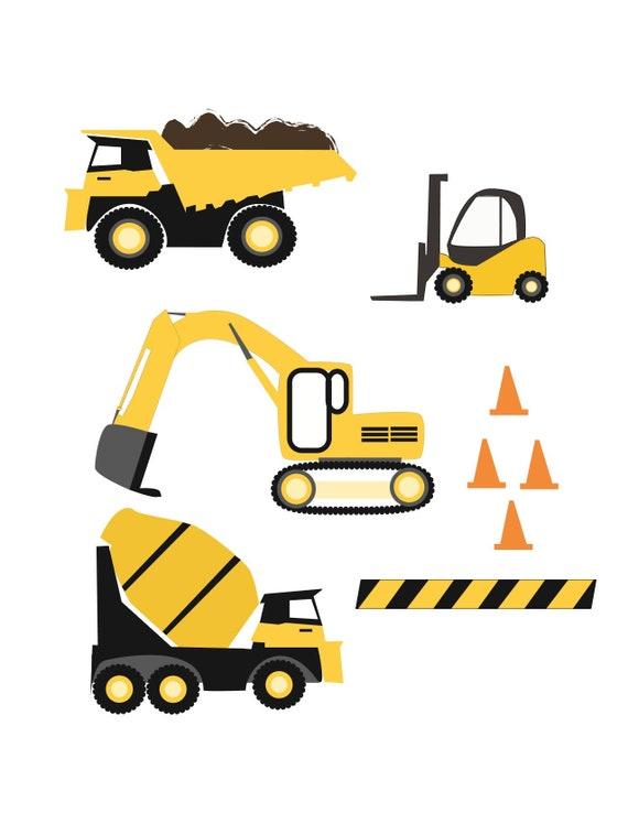 Construction Trucks Svg Cut Files Etsy
