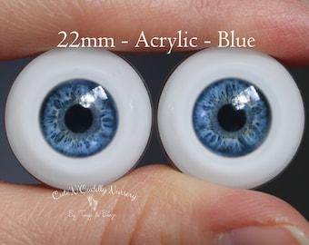 22mm - Acrylic Eyes -  Blue