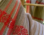 Beauty is in the Air with Red to Brown Handwoven Scarf