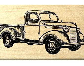 Heartfelt Creations Rubber Stamps; Antique Truck Pre-Cut Set; HCPC 3482