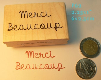 Merci beaucoup. rubber stamp P62