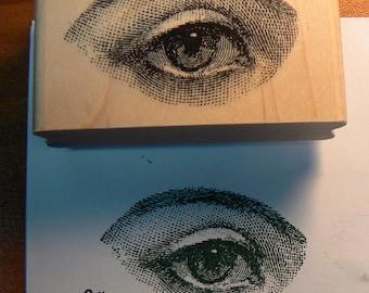 Eye rubber stamp, victorian style WM P30