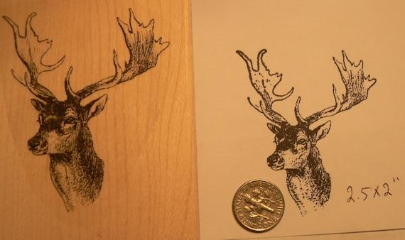 Elk Deer Rubber Stamp P51