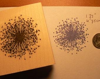 "dandelion rubber stamp  1.75"" P5"