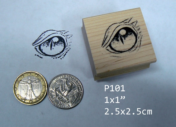P101 Dragons Eye Rubber Stamp Large