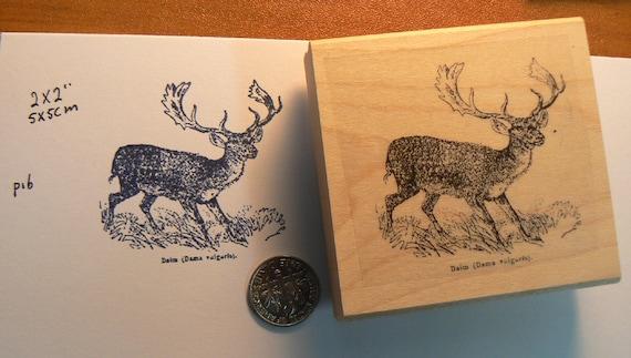 Vintage Style Deer Rubber Stamp WM P16