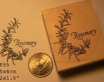 Rosemary rubber stamp  P55