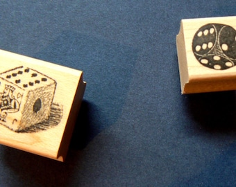 Dice rubber stamps 2 seperate stamps P22