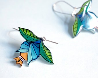 Flower dangle earrings | Flower jewelry | Spring fashion | Gifts for women | Acrylic jewelry