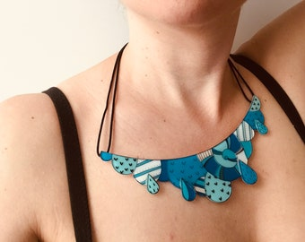 Cloud acrylic bold necklace | Statement quirky jewelry  | Unusual gift for her
