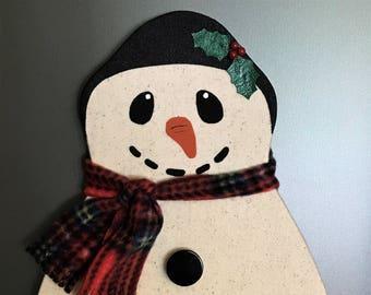 Snowman Bulletin Board, Snowman Theme, Snowman Decor, Winter Theme, Fabric Covered Memo Board, Push Pins, Christmas Decor, Free Shipping