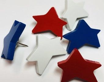 USA AMERICAN FLAG CORK BOARD NOTE BOARD WITH USA STAR PUSH PINS