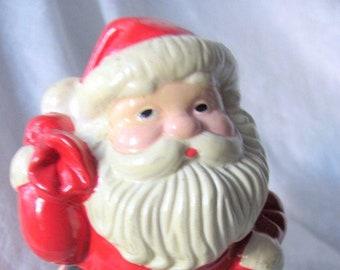 VINTAGE AVON 1982 SANTA Candle Holder...Planter...hjw